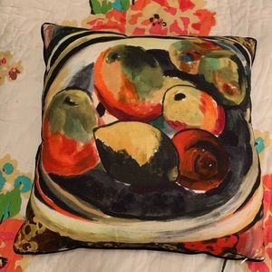 Anthropologie Dual Sided Throw Pillow